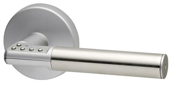 Image showing Lockwood Code Handle Keyless Lockset with combination buttons on handle