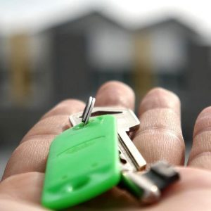 Man Holding The Keys To His Residential Property